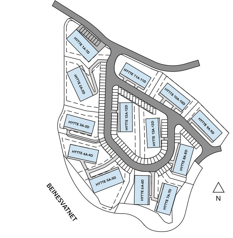 Vertikaldelte hytte i Sirdal